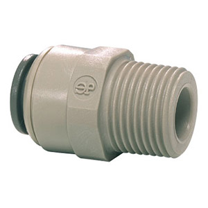 John Guest Male Connector 1/4 x 1/4 NPTF PI010822S