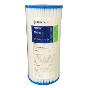10 inch Jumbo Polypleated Filter Cartridge Pentair 10x4½ 1 micron