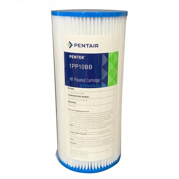 10 inch Jumbo Polypleated Filter Cartridge Pentair 10x4½ 1 micron